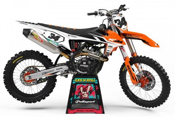 Kit adhesivos moto KTM Blange