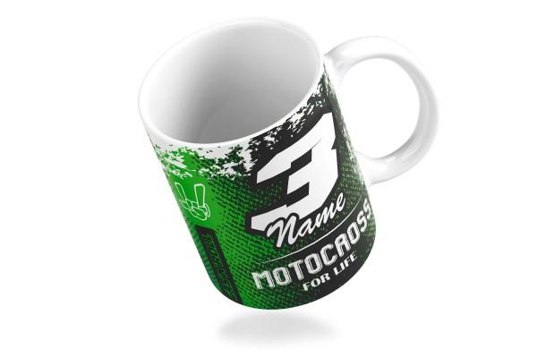 Taza Motocross for life Green
